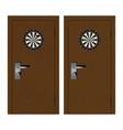 dartboard on door vector image vector image