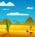 Desert Cartoon Landscape vector image