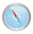 design silver compass vector image
