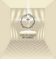 easter banner with crown of thorns cross and book vector image vector image