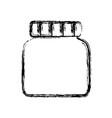 empty glass bottle vector image vector image