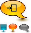 Entrance speech comic icons
