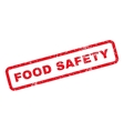 Food Safety Rubber Stamp vector image vector image