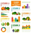 Fruits and vegetables vitamins infographics vector image vector image