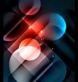 glowing geometric shapes background