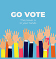 go vote social motivational poster template vector image vector image
