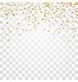 gold stars falling confetti isolated on white vector image vector image