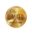 Golden badge limited edition vector image vector image