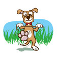 happy dancing dog vector image vector image