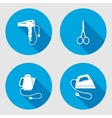 Household equipment sign set Electric appliance vector image