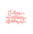i love everything about you vector image