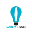 light bulb and pen logo design vector image vector image
