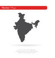map india isolated black on vector image vector image