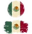 Mexican round and square grunge flags vector image vector image