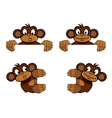 monkey frame decoration vector image vector image