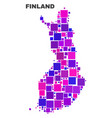 mosaic finland map of square elements vector image vector image