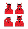 omg red devil set oh my god satan frightened demon vector image