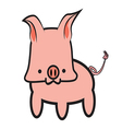 Pink Pig Graphic vector image vector image