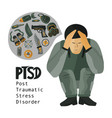 post traumatic stress disorder vector image