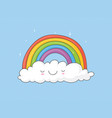 rainbow on a cloud vector image vector image