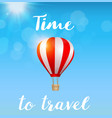 red air balloon in the blue sky vector image vector image
