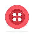 red button with four holes flat isolated vector image