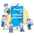 repair of cellular phones problem diagnosis vector image