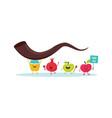 rosh hashanah jewish holiday banner design with vector image vector image