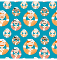 Sailors of different ethnicities seamless pattern vector image