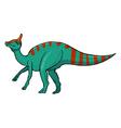 saurolophus vector image vector image
