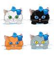 set of cute cats vector image vector image