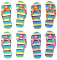 set of flip-flops vector image vector image