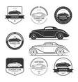 set of hot rod car labels emblems logos vector image vector image