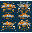 set vintage sports all star crests