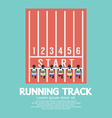 Top View Running Track vector image