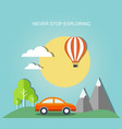 travel with landscape vector image vector image