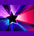 tricolor star vector image vector image