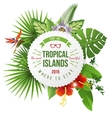 Tropical emblem with type design vector image vector image