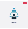two color meeting icon from strategy concept vector image vector image