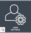 user settings line icon vector image vector image