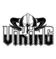 vikingi helmet 0001 vector image
