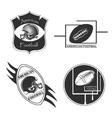 American Football logo and emblem vector image