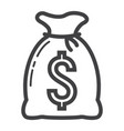 money bag line icon business and finance vector image