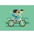 Active bicyclist vector image vector image