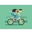 active bicyclist vector image vector image