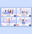 activities and life in pregnancy banner set vector image vector image