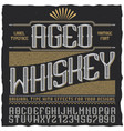 aged whiskey vintage label poster vector image vector image