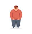 angry fat man flat vector image vector image