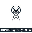 antenna icon flat vector image vector image