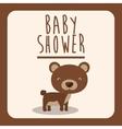 baby shower invitation design vector image vector image